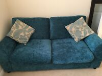2 Seater Sofa Bed - Teal