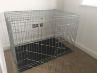 Almost brand new extra large dog crate (2 door)