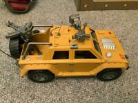 Military toy figures and vehicles.