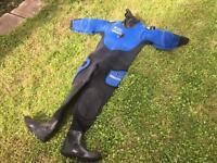Dive master dry suit.