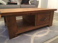 Next Hartford single drawer coffee table