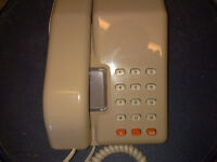 Retro - Vintage BT Viscount Beige Push Button Telephone - 1980's