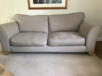 2 x DFS 3 seater sofas beige/oatmeal