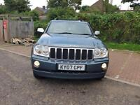 JEEP GRAND CHEROKEE 3.0 CRD Overland 5dr Auto (silver) 2007
