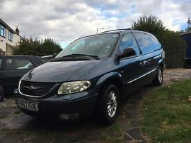 CHRYSLER GRAND VOYAGER F.S.H, 126k miles,3.3l & LPG gas conversion! MUST GO THIS WEEK!!