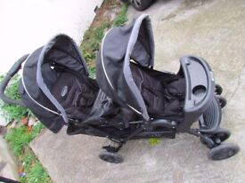 Graco Stadium Duo Oxford Standard Double Seat Stroller Baby Kids trolley