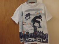 Boys M & Co T-shirt Age 5-6