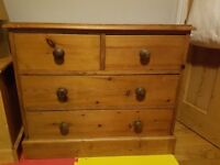 Gorgeous classic solid pine chest of drawers - perfect upcycle or as is