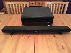 High quality Yamaha Soundbar and Sub for sale. Fully working and great sound