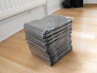 "BARGAIN "" SIXTY"" SINGLE DVD/CD SLIM PLASTIC HOLDER CASES 60 IN TOTAL"
