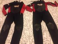 Childs wetsuits for sale - age 12 and 13