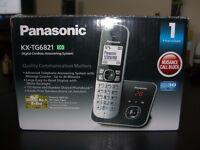 New Panasonic KX-TG6821EB Single DECT Cordless Telephone with Answer Machine