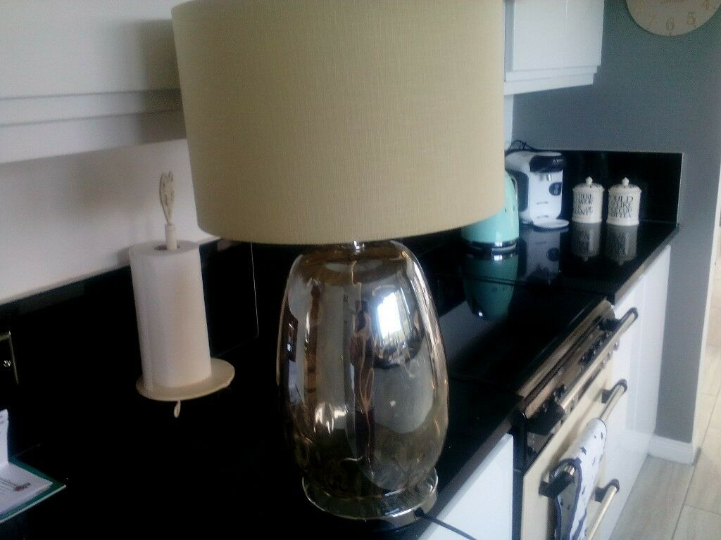 Next large glass table lamp in newtownards county down gumtree next large glass table lamp mozeypictures Gallery