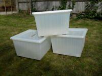 Vessla Storage Boxes Ikea x 3 White