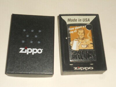 ZIPPO HOW ABOUT A NICE CUP OF SHUT THE HELL UP!? LIGHTER MINT IN BOX NEW
