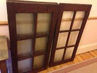 6 solid wood 6 pained glass doors