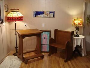 Small Church Pew and Prayer Desk
