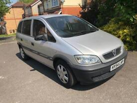 2004 54 reg Vauxhall Zafira Life 1.6 1 owner from new silver very low mileage
