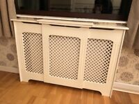 Large White Victorian Radiator Cover