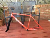 """Brand New Apollo Frame & Forks For Sale \ Red \ 20"""" large \ Steel"""