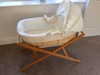 John Lewis Moses Basket & Wooden Stand