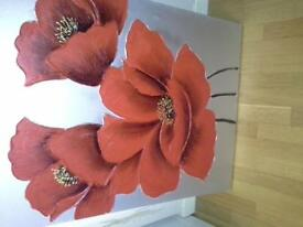 Beautiful large poppy canvas