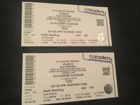 2 x Plan B Standing Tickets Glasgow