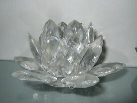 Large Crystal Lotus Flower Ornament