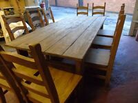 Quick SALE !!! Beautiful set Table + 10 chairs ... BARGAIN!!!!