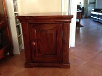 2 Sheesham wood cabinets