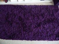 Deep purple shaggy rug, great condition