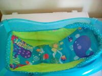 Blue baby bath