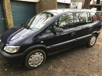 Vauxhall Zafira Life DTI 1995cc Turbo Diesel 5 speed manual 7 seat estate 04 plate 28/05/2004 Blue
