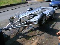 braked car transporting trailer fully serviced