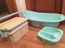 Clean Baby Bath, Top'n Tail Bowl And Bath Box
