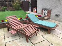 Two sun-loungers