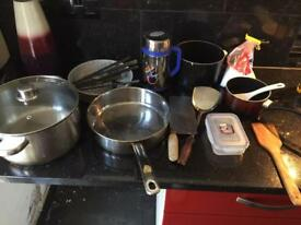 All sorts of Cookware and kitchenware, 20p-50p each