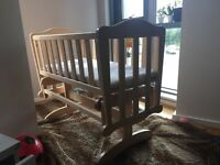 Baby crib in good condition. Nice , wooden . You will be happy to have it in your house. I was.