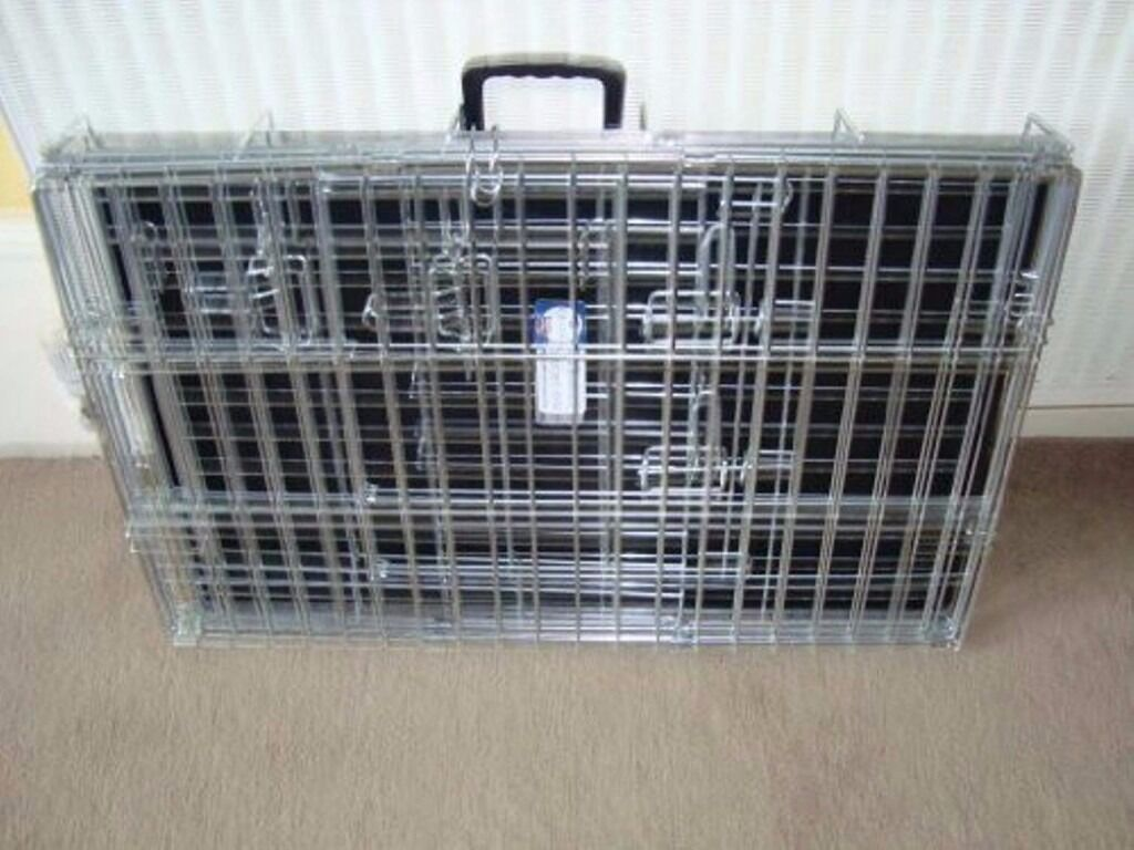 deluxe xl dog crate silver  brand new  in great sutton  -  deluxe xl dog crate silver  brand new