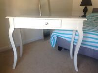 White 3 piece dressing table / side board
