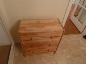 Small Pine Chest of 3 Drawers
