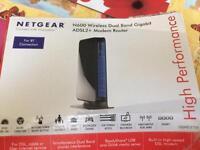 Netgear ADSL2+ modem router n600 wireless dual band gigabit
