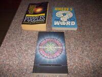 Three quiz books very good condition