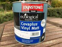 Matt emulsion 2.5ltr Johnstone Paints, colour Farrow & Ball St Giles Blue