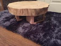 Handmade Solid Wooden Tree Trunk Table