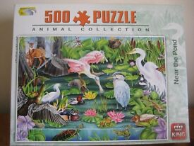500 PIECE JIGSAW PUZZLE -ANIMAL COLLECTION -NEAR THE POND - AS NEW - (Kirkby in Ashfield)
