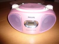 PHILIPS AZ102C/05 Kids Portable Stereo - pink : Excellent condition