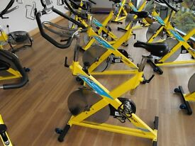 Life Fitness Le Mond Spinning bike full commercial £220 just serviced.