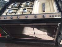 Brown can 90cm gas cooker grill & double ovens good condition with guarantee