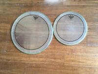 Drum Heads - Remo Pinstripe Clears - 16 and 12